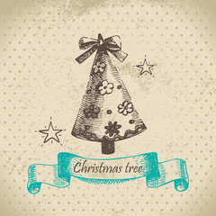 Hand drawn Christmas tree design