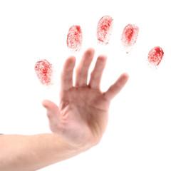 hand and fingerprints