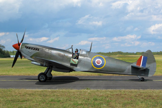 Supermarine Spitfire at the airfield