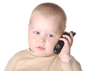 Small boy with phone