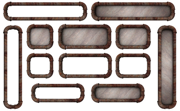 Pipe Frame Buttons