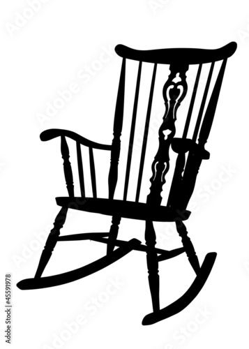 Rocking Chair Clip Art ~ Quot vintage rocking chair stencil left side tilted stock