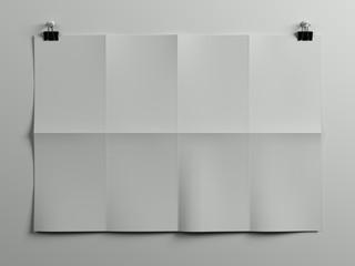 Horisontal paper sheet poster picture frame