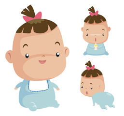 Illustration of Cute baby vector