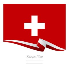 Abstract color background Swiss flag vector
