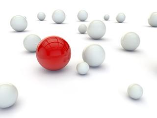 Individuality balls 3d render illustration