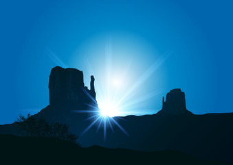 Monument Valley_Soleil_Rayons