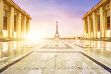Wall Mural - Tour Eiffel Paris Trocadéro