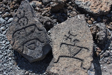 Hawaii Petroglyph Carvings