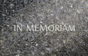 In Memoriam Inscribed In A Marble Grave Stone