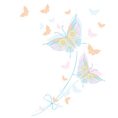 butterfly,butterflies, drawing, handmade,
