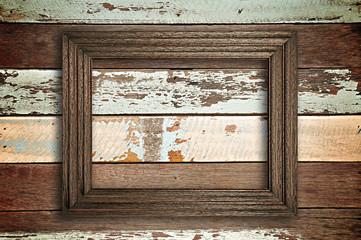 Vintage wooden picture frame