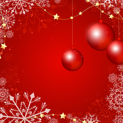 Vector Illustration of a Red Christmas Background