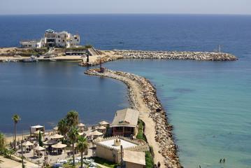 Poster de jardin Tunisie Sea coast in Monastir, Tunisia in Africa
