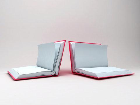 Libro aperto, pagine bianche