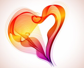 Beautiful Valentine's background with abstract color heart