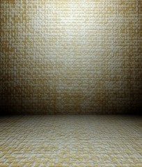 3d wall paper texture, empty interior