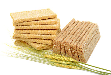 Dry loaves and ears of wheat