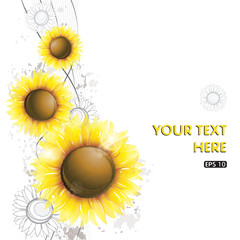 Abstract sunflower design