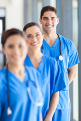 portrait of group hospital staff in office