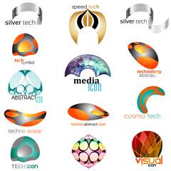 technology concept icon set