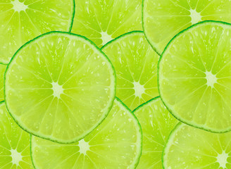 Tuinposter Plakjes fruit Lime