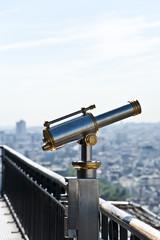A binocular on The Eiffel Tower.