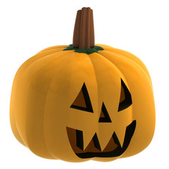 isometric isolated pumpkin halloween face smile illustration