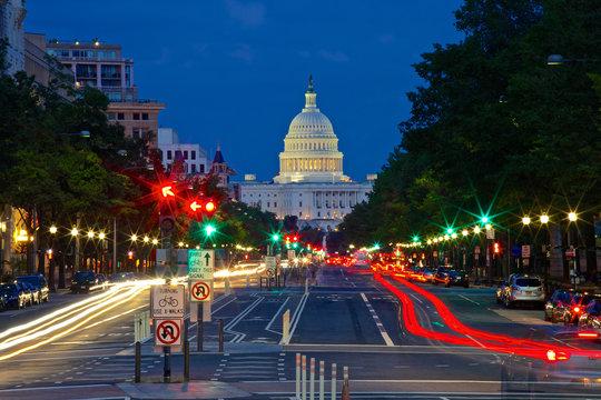 U.S. Capitol, USA, Washington DC, Pennsylvania Avenue