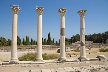 Ancient columns on Kos, Greece