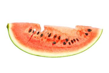 fresh sweet watermelon slice on white background