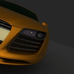 Fast car. 3d render  illustration