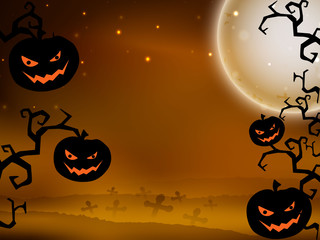 Scary Halloween Background. EPS 10.