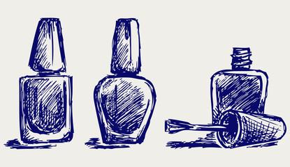 Nail polish. Doodle style