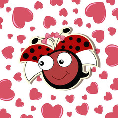 Pretty cute ladybug girl