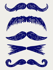 Mustache. Doodle style