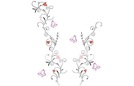 Blumenranken Tattoo 20 Schone Vorlagen Fur 12