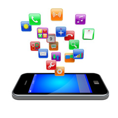 Smartphone apps icons