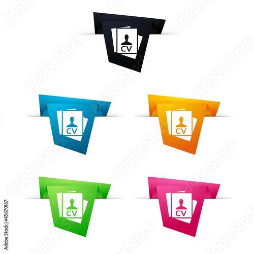 u0026quot symbole vectoriel papier origami cv    candidature
