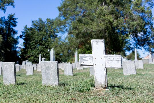 Confederate cemetery in Fredericksburg VA