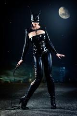 Catwoman im Mondlicht