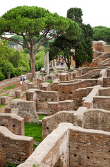 Fototapete - Old houses ruins at Ostia Antica - Rome - Italy