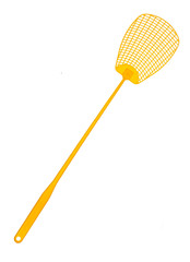 Yellow flyswatter