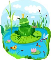 Canvas Prints River, lake frog