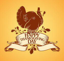 Happy Thanksgiving Day design template.