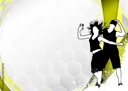 Zumba Fitness Dance Background Stock Photo And Royalty