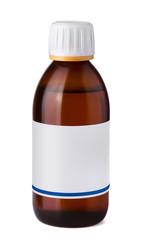 Medicine bottle with blank label