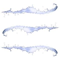 Water splashes on white background