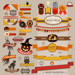Wall Mural - Set of Halloween retro ribbons