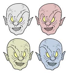 Four color faces